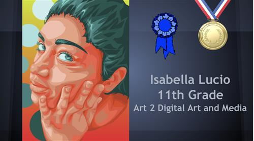 Gold Medal Winner at Youth Art Month