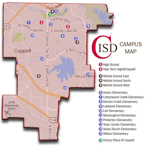 Addresses in Coppell ISD